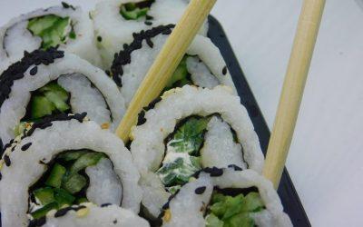vegan sushi and japanese food